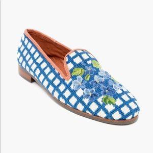 Hydrangea Needlepoint Loafers